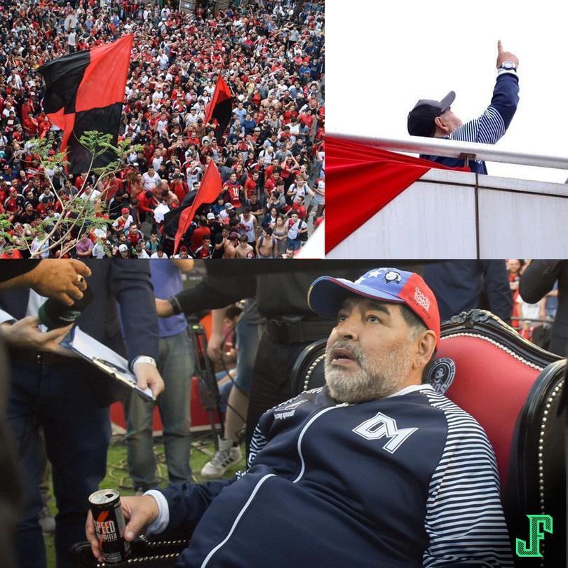 Maradona en Rosario.