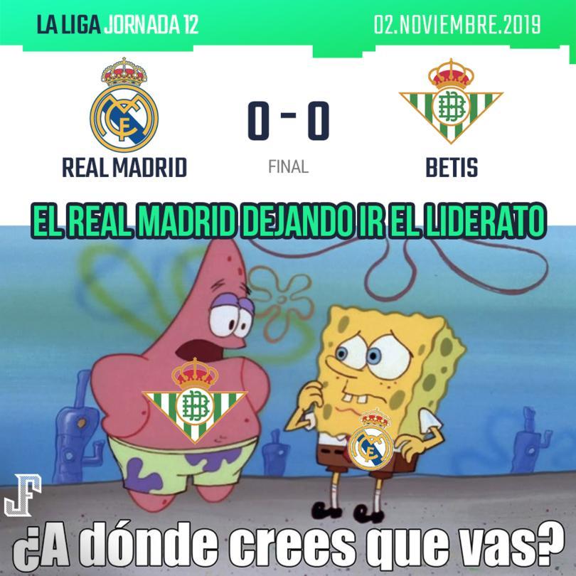 Real Madrid no aprovechó la derrota del Barcelona y empató contra el Betis en un partido cerrado.