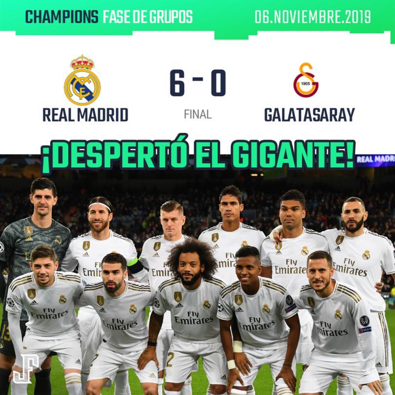 El Real Madrid goleó al Galatasaray en Champions.