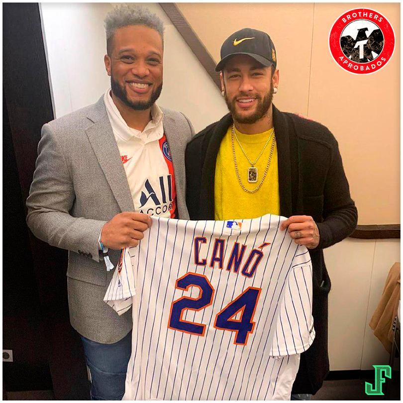 Robinson Canó y Neymar intercambiaron playeras