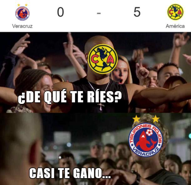 Los mejores memes de la goleada del América sobre Veracruz