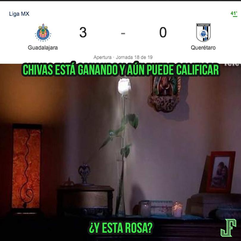 Los mejores memes de la goleada de Chivas a Querétaro