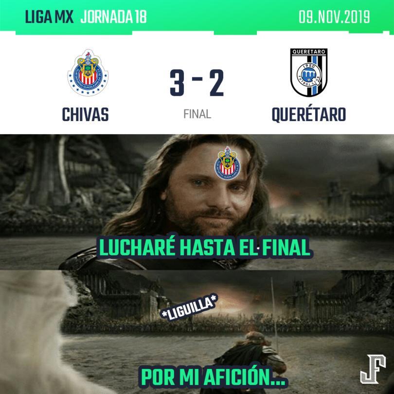 El Rebaño ganó y aún tiene ligeras esperanzas para meterse a la Liguilla. Goles: Alexis Vega, Pulido y Chofis para Guadalajara; doblete de Lucumí para Gallos.