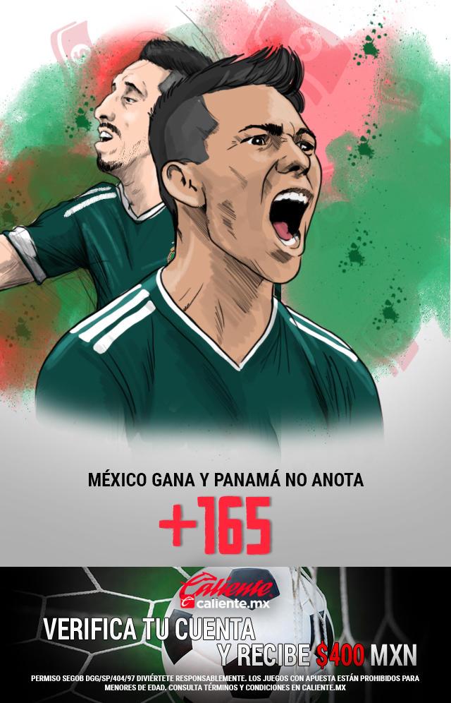 Si crees que la Selección Mexicana gana el partido y Panamá no anota gol, apuesta en Caliente y llévate mucho dinero.