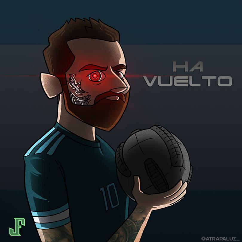 Messi volvió a anotar con Argentina.