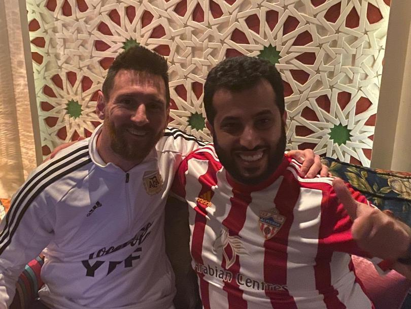 Messi y el jeque Turki Al-Sheikh