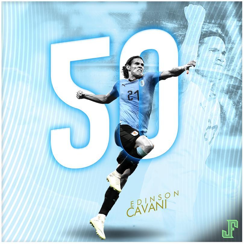 Cavani junto a Luis Suárez, son los máximos goleadores de la Celeste.