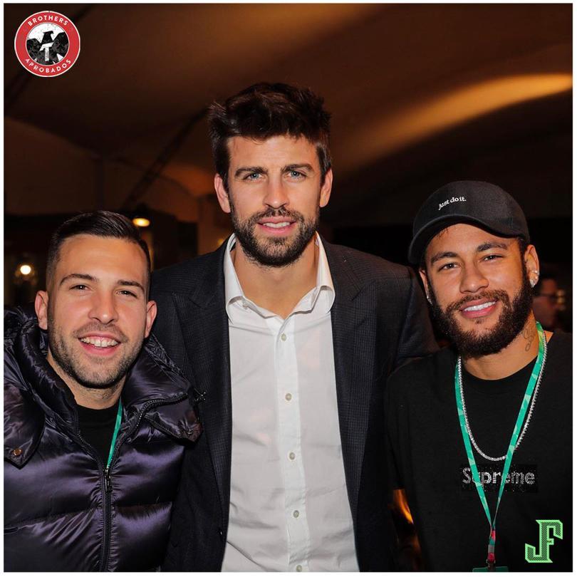 Jordi Alba, Gerard Piqué y Neymar