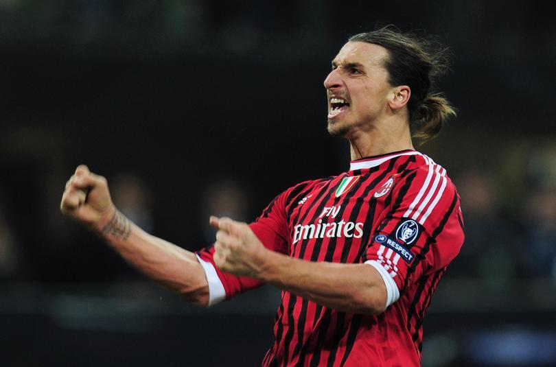 Zlatan Ibrahimov en el Milan
