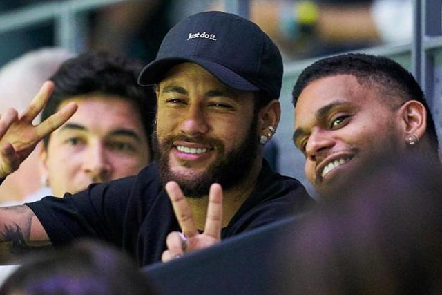 Neymar en su visita a la Copa Davis en Madrid