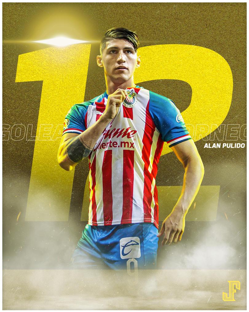 ¡OFICIAL! ¡ALAN PULIDO Y QUIROGA CAMPEONES DE GOLEO!  Con 12 goles, Alan Pulido se convirtió en campeón goleador de la Liga MX junto a Mauro Quiroga del Necaxa. Es el primer mexicano en logarlo en ocho años. El último que lo había hecho fue Ángel Reyna en el 2011.