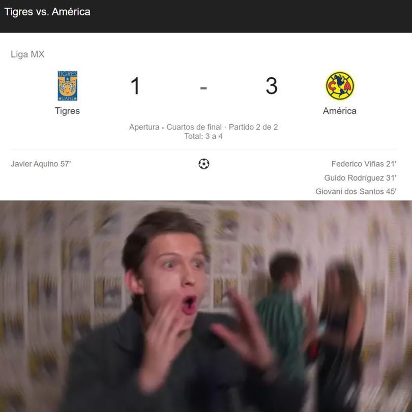 Los mejores memes de la épica remontada de América sobre Tigres