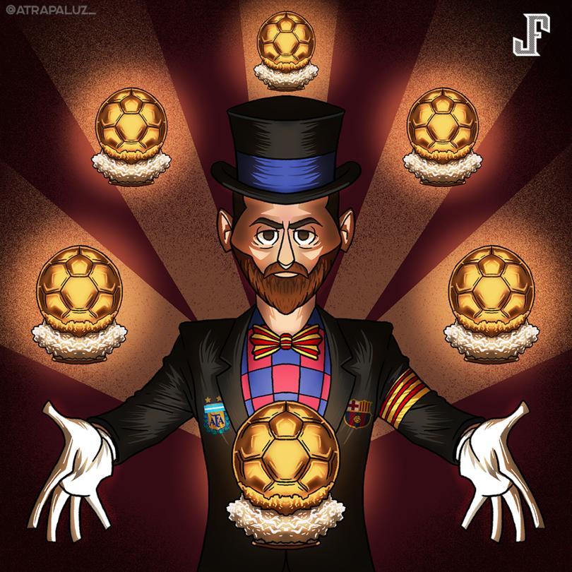 La Pulga gana su 6º Balón de Oro. Nadie como él.