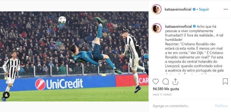 Hermana de Cristiano Ronaldo le tira con todo a Van Dijk