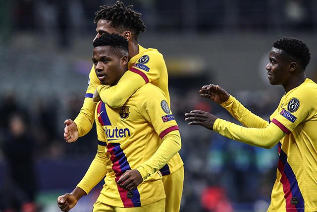 Ansu Fati rompe su segundo récord en la Champions League