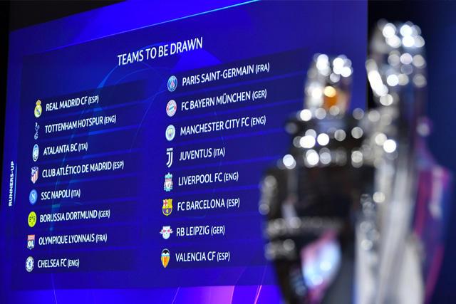 Se definen los octavos de final de la UEFA Champions League