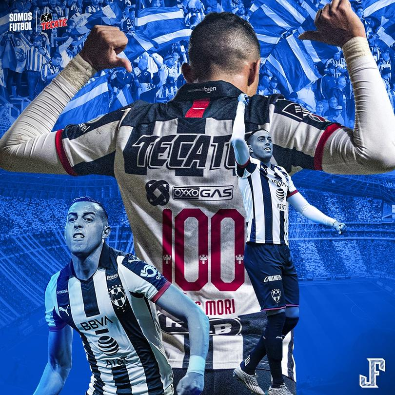 Funes Mori llegó a 100 goles con Monterrey