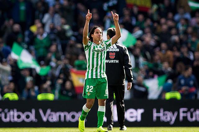 Diego Lainez anotó gol en la Copa del Rey