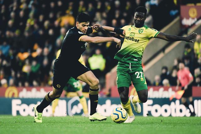 Raúl Jimenez le dio la victoria a los Wolves contra Norwich