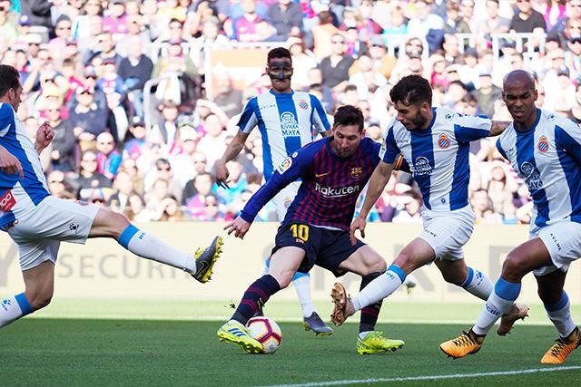 Messi ha anotado 22 goles en 25 ediciones del Derbi de Barcelona