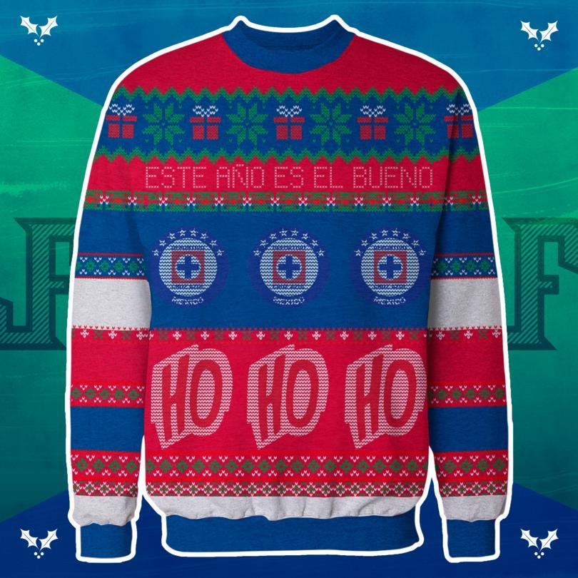 Ugly sweater del Cruz Azul