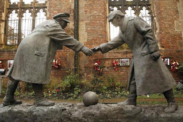 Partido de la tregua en la víspera de navidad de 1914