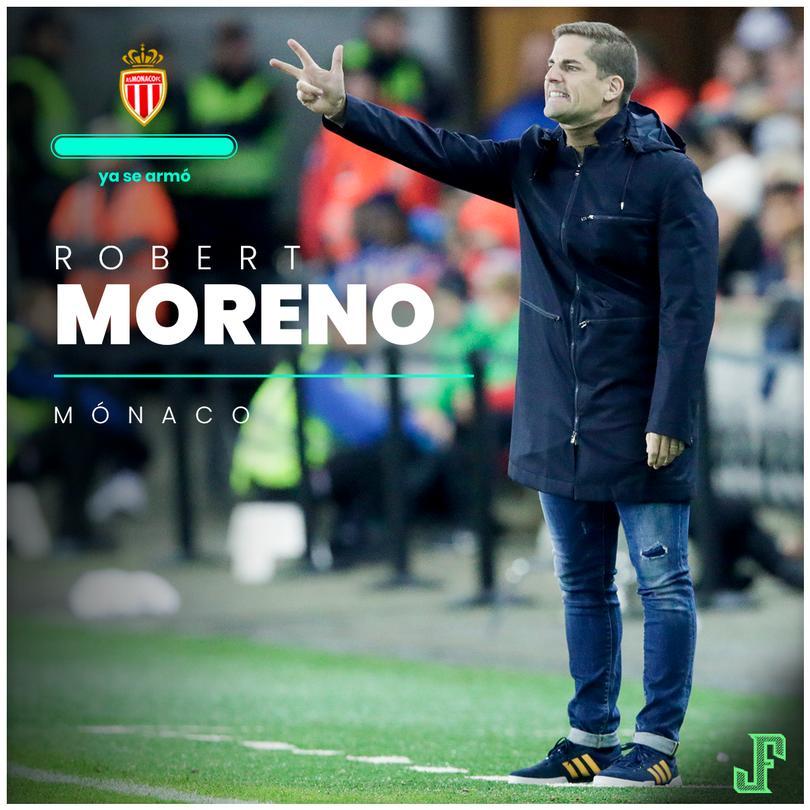 Después de su paso como interino de La Roja, Robert Moreno será nuevo DT del Mónaco.