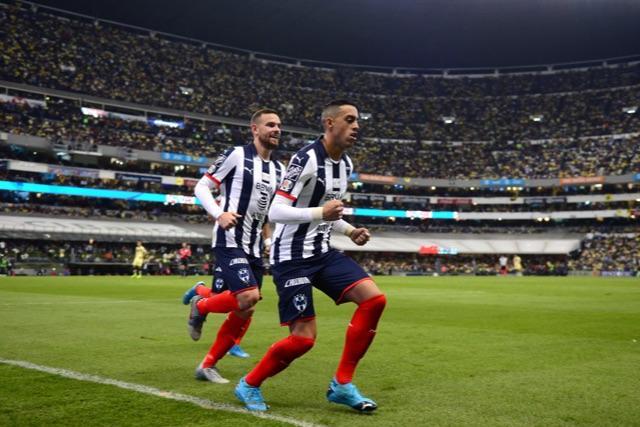 Funes Mori celebra su gol contra América