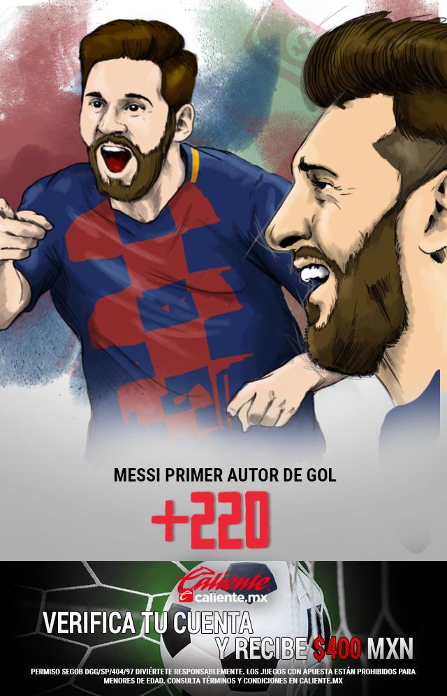 Si crees que en el partido Espanyol vs Barcelona, Messi es el primer autor de un gol, apuesta en Caliente y llévate mucho dinero.
