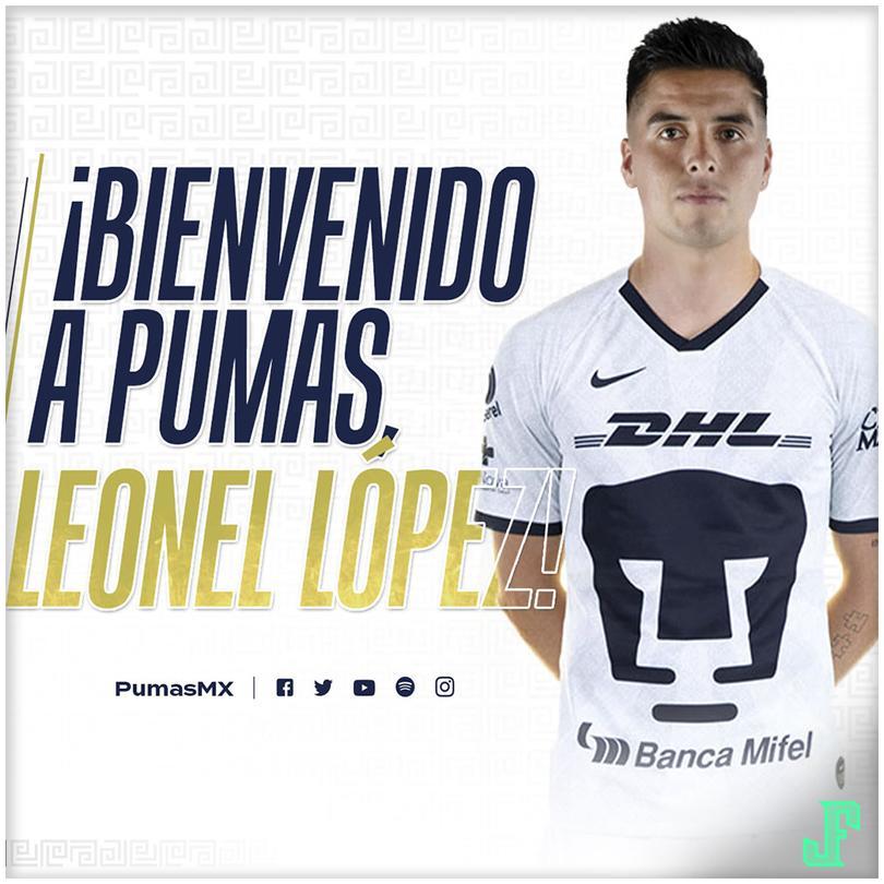 Leonel López es nuevo jugador de Pumas