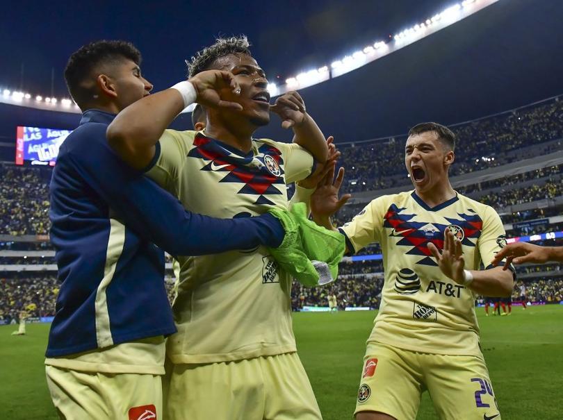 El colombiano festeja un gol en la Final contra Monterrey