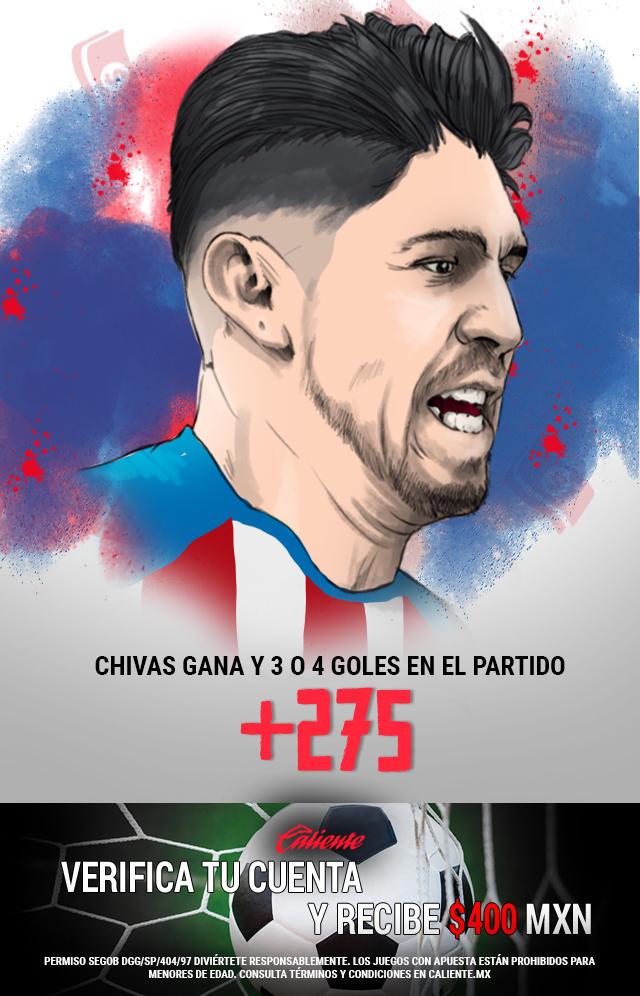 Si crees que Chivas gana vs Juárez y se anotan 3 o 4 goles en el partido, apuesta en Caliente y llévate mucho dinero.
