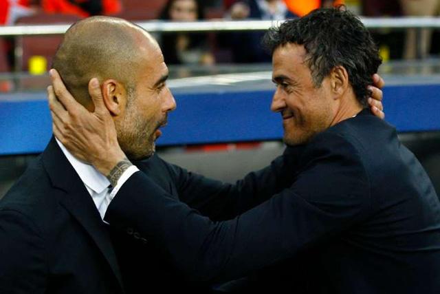 Guardiola y Luis Enrique
