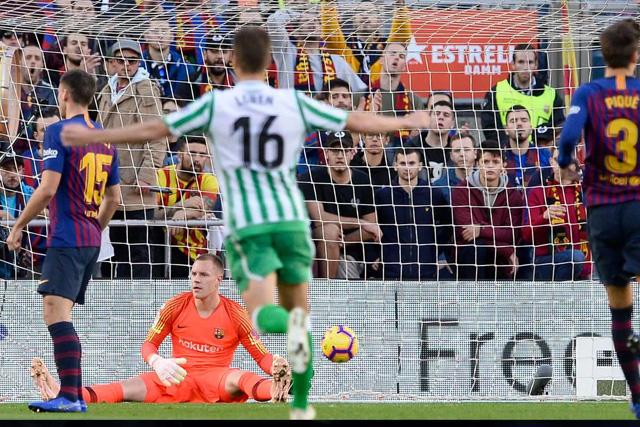 Betis venció al Barcelona 3-4 en el Camp Nou