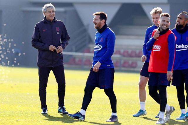 Setién estableció una serie de cambios en la forma de trabajar del Barcelona