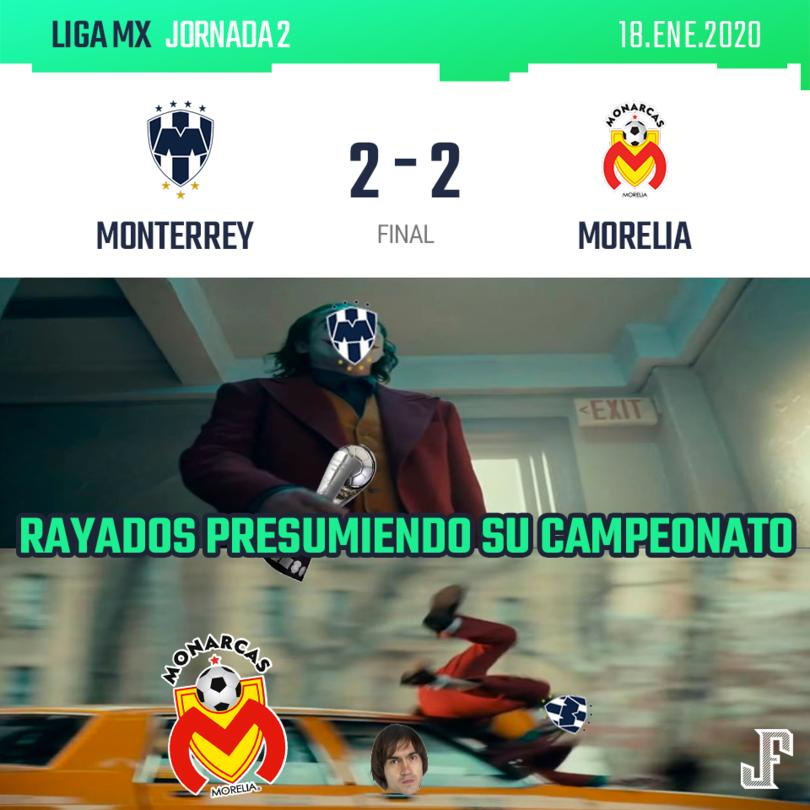 Goles de Martín Rodríguez y Aldo Rocha para Monarcas; por Rayados Nico Sánchez hizo un doblete de penal.