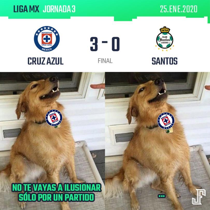 Con goles del Cabecita Rodríguez, Elías Hernández y Luis Romo, Cruz Azul le pasó por encima a Santos.