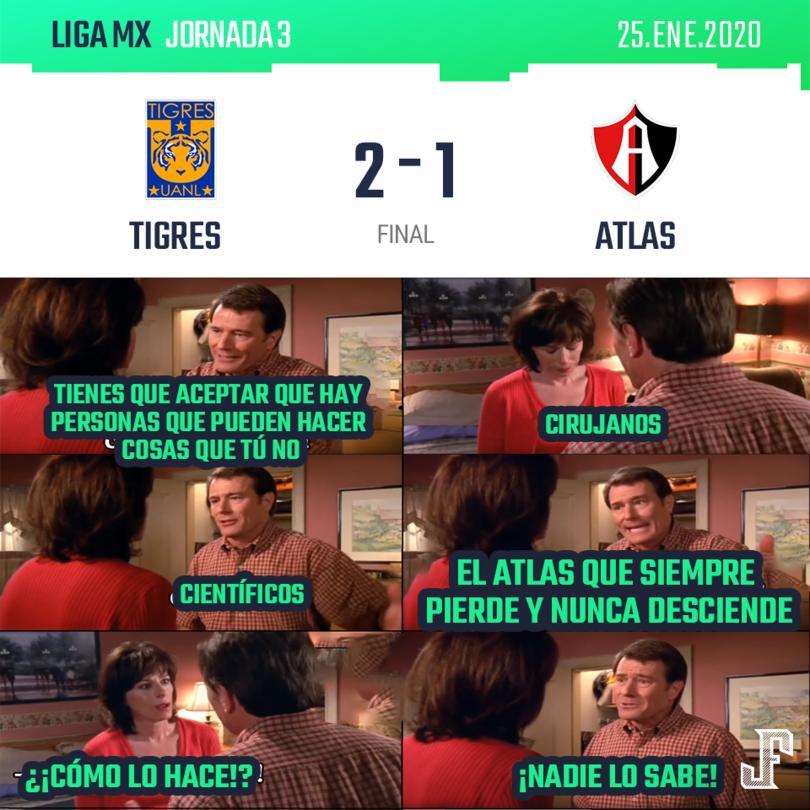 Con goles de Luis Quiñones y Gignac, Tigres venció a Atlas en casa. Por los rojinegros descontó Jerandinho.