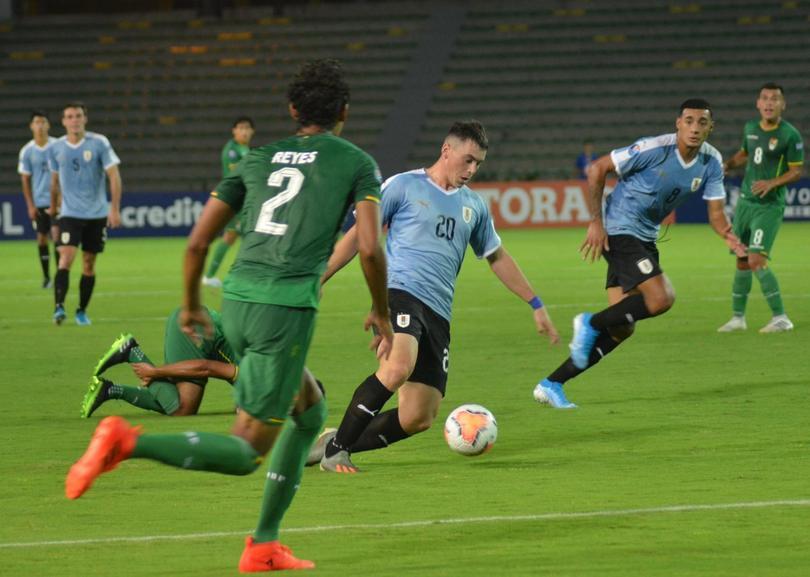 Viñas marca un golazo en el Preolímpico Sub-20 con Uruguay