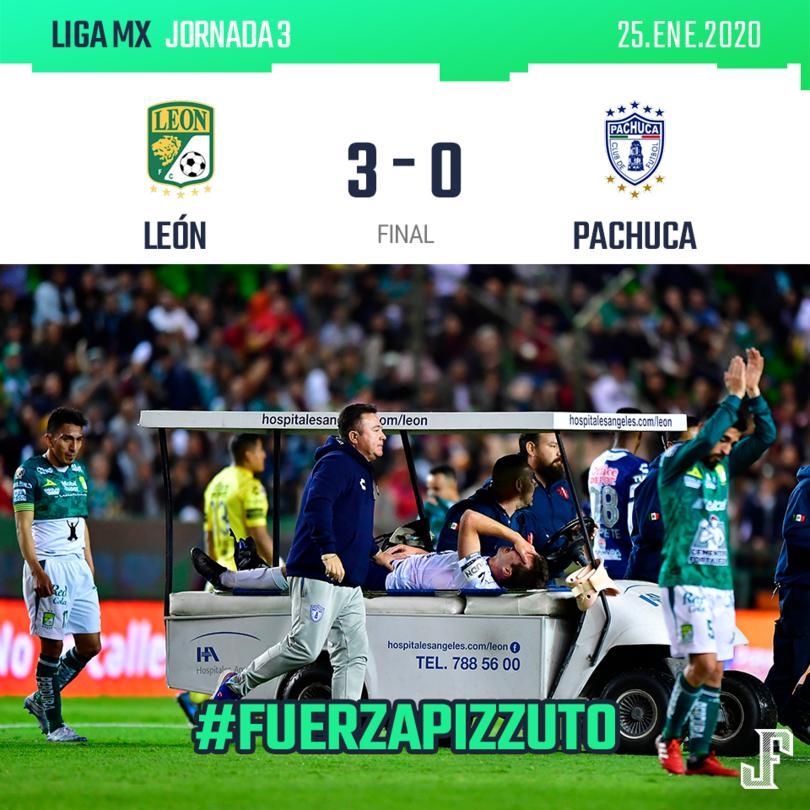 Con goles de Ángel Mena, Leo Ramos y Tesillo, la Fiera se adelantó en el marcador, sin embargo, el partido se vio manchado por la fuerte lesión del juvenil, Eugenio Pizzuto.