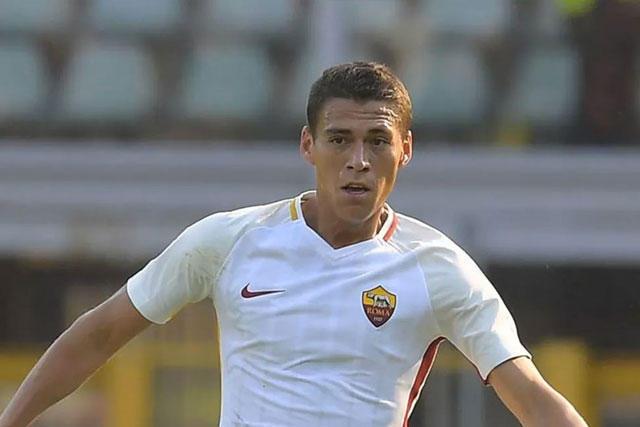 Héctor Moreno con la Roma