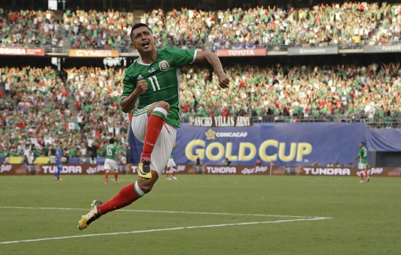 Elías Hernández con la Selección Mexicana en Copa Oro