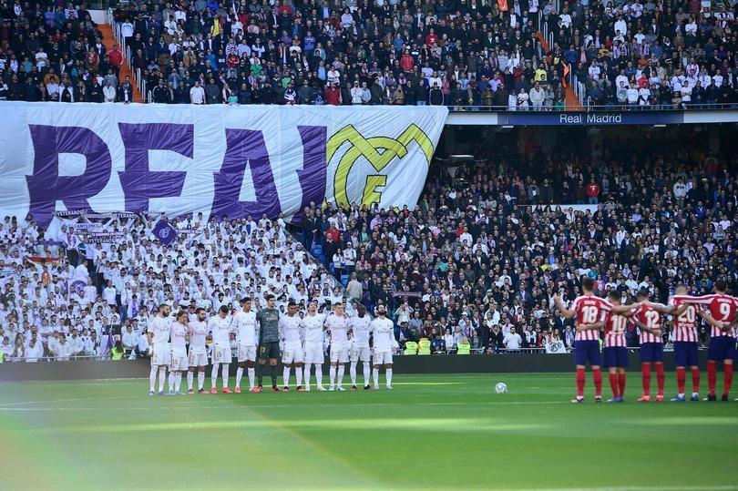Real Madrid y Atlético de Madrid guardaron un minuto de silencio por Kobe Bryant en el Santiago Bernabéu