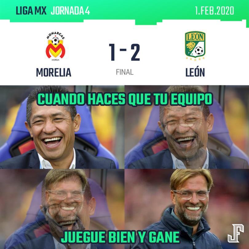 Con goles de Jean Meneses y Ángel Mena, el León consiguió su tercera victoria del torneo; por Morelia descontó Aldo Rocha.