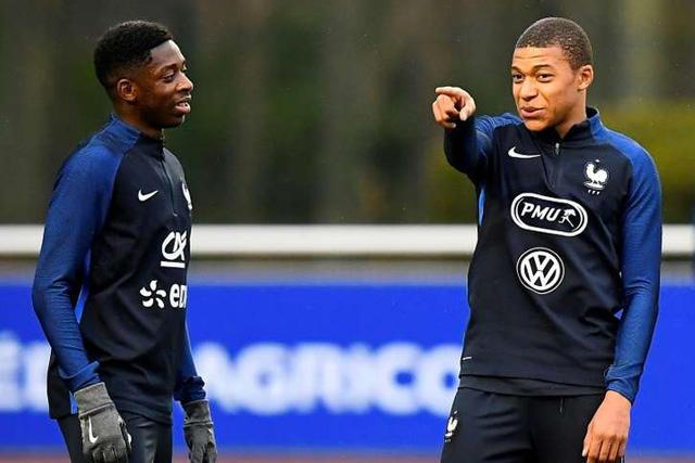 Dembélé y Mbappé