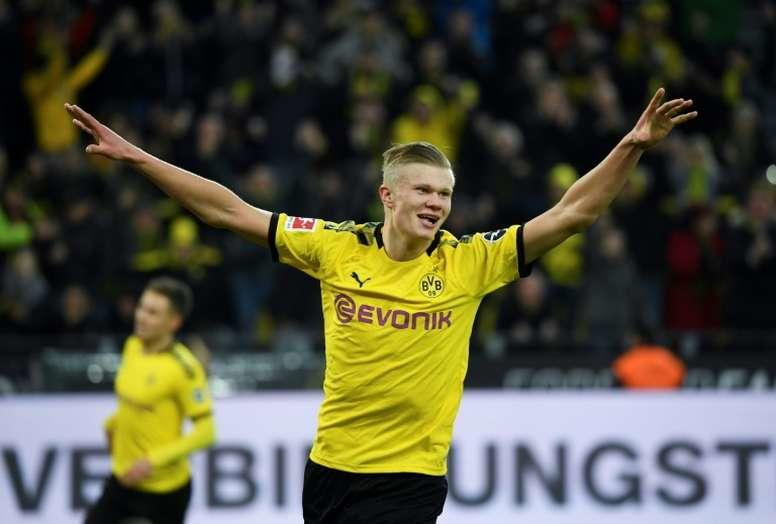Erling Haaland celebrando gol con Borussia Dortmund