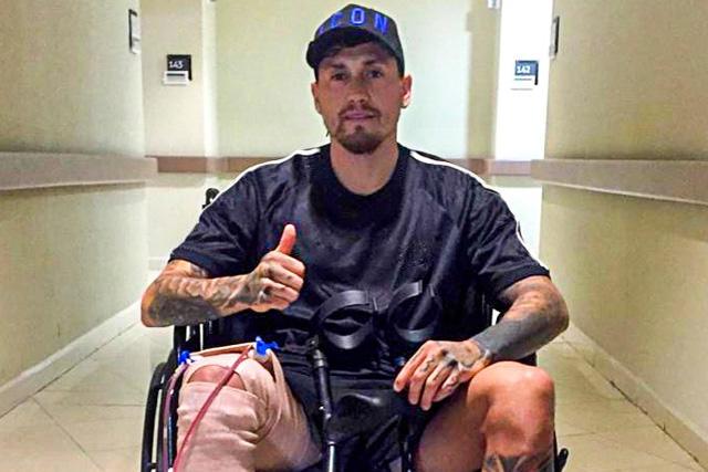 Nico Castillo tuvo que ser intervenido quirúrgicamente para reparar la pared de la arteria femoral