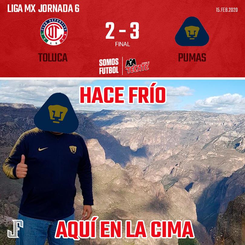 Pumas vino de atrás y le dio la vuelta a Toluca en su casa. Goles de Barrera y doblete de Dinenno por los Universitarios; Gigliotti y Leo Fernández por los Diablos.