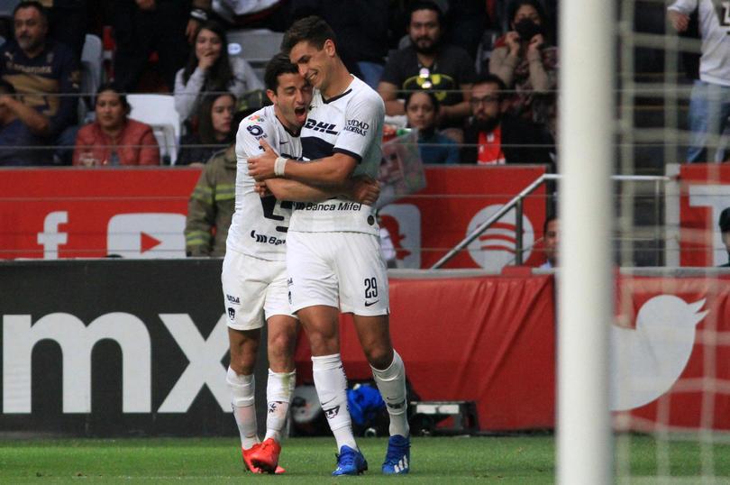 Dinneno marcó doblete para darle la victoria a Pumas sobre Toluca
