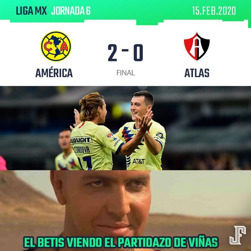 Los memes de la victoria del América ante Atlas